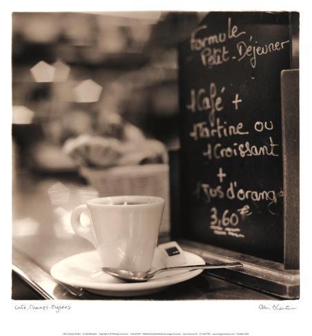 Café, Champs-Élysées Art Print