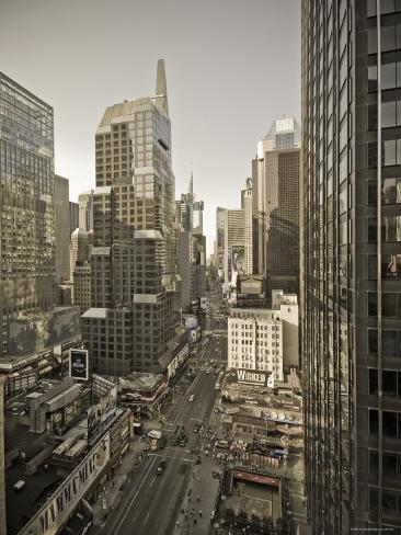 Broadway Looking Towards Times Square, Manhattan, New York City, USA Photographic Print