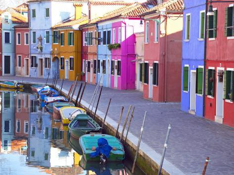 Burano, Venice, Italy Photographic Print