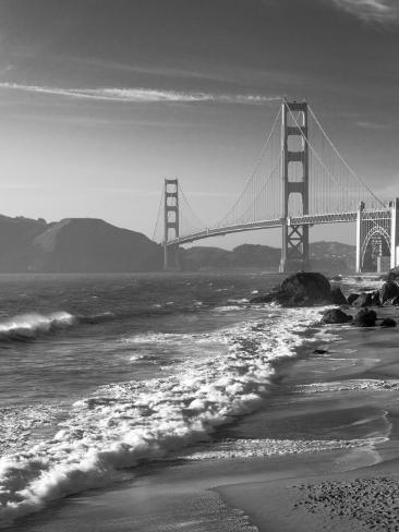 California, San Francisco, Golden Gate Bridge from Marshall Beach, USA Photographic Print