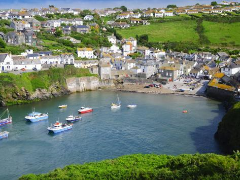 England, Cornwall, Port Isaac, UK Photographic Print