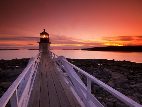 Maine, Port Clyde, Marshall Point Lighthouse, USA Photographic Print