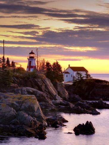 New Brunswick, Campobello Island, East Quoddy Lighthouse, Canada Photographic Print