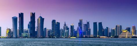 Qatar, Doha, Modern Skyline Photographic Print