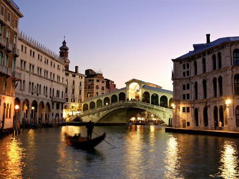 Rialto Bridge, Grand Canal, Venice, Italy Photographic Print