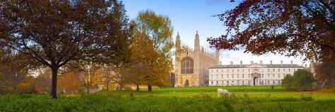 UK, England, Cambridgeshire, Cambridge, the Backs, King's College Chapel Photographic Print