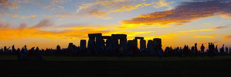 UK, England, Wiltshire, Stonehenge, Summer Solstice Celebrations Photographic Print