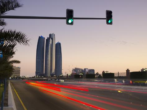 United Arab Emirates, Abu Dhabi, Etihad Towers Photographic Print