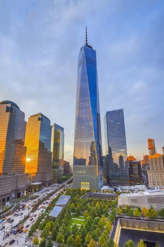 Usa New York Manhattan Downtown World Trade Center Freedom