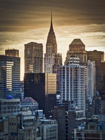 USA, New York, Manhattan, Midtown, Chrysler Building Photographic Print