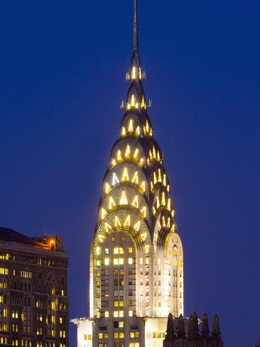 USA, New York, Manhattan, Midtown Skyline and Chrysler Building Photographic Print