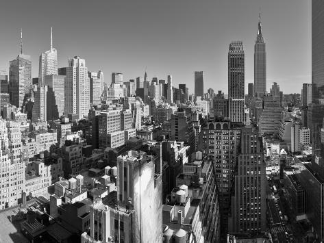 USA, New York, Manhattan, Midtown Skyline Including Empire State Building Photographic Print