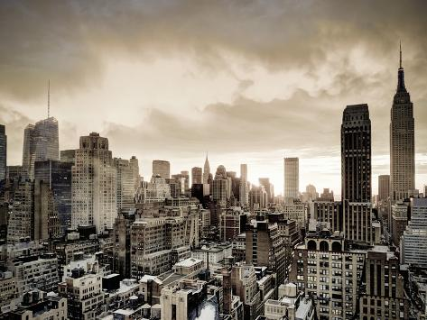 USA, New York, Manhattan, Midtown Skyline Including Empire State Building Photographic Print