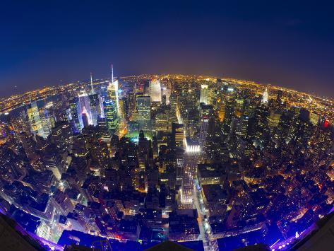 USA, New York, Manhattan, Midtown Skyline Photographic Print
