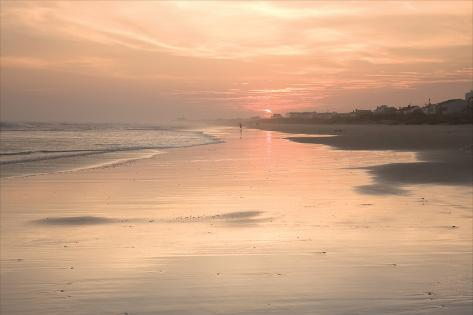 Beach Sunset 1 Valokuvavedos
