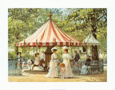 Summer Carousel Art Print