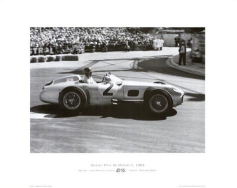 Grand Prix de Monaco, 1955 Art Print