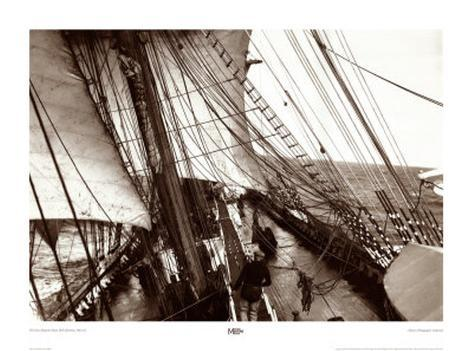 The View Along the Main Deck of Parma Art Print