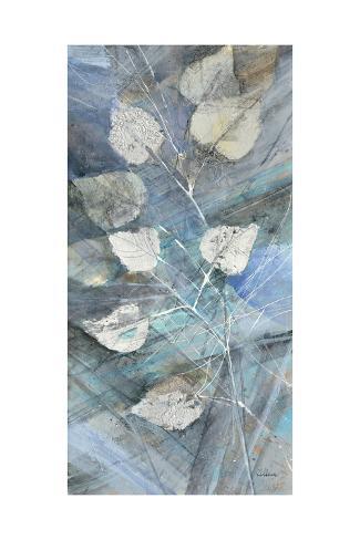 Silver Leaves I Premium Giclee Print