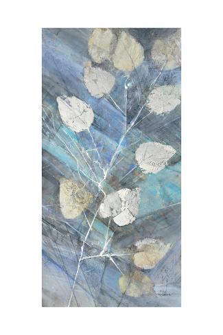 Silver Leaves II Premium Giclee Print