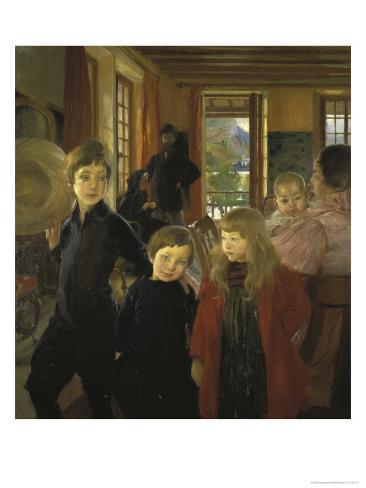 Une Famille Ou La Famille de L'Artiste Impressão giclée