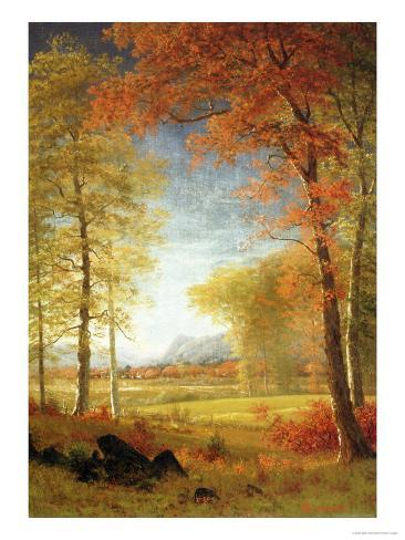 Autumn in America, Oneida County, New York Giclee Print