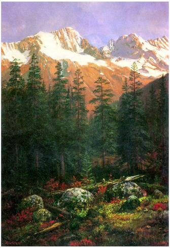 Albert Bierstadt Canadian Rockies Art Print Poster Poster