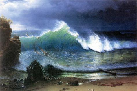 Coast of Emerald Lake Stretched Canvas Print