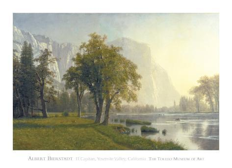 El Capitan, Yosemite Valley, California, 1875 Art Print