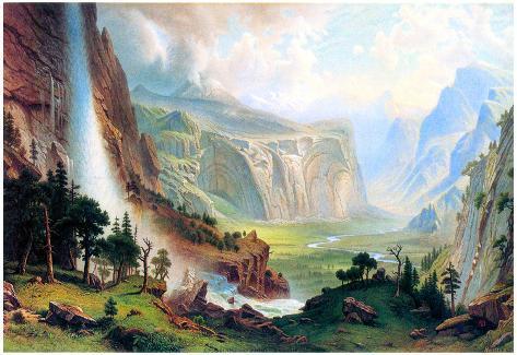 Albert Bierstadt Half Dome in Yosemite Art Print Poster Poster