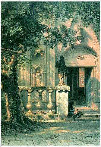Albert Bierstadt Sunlight and Shadow Art Print Poster Poster