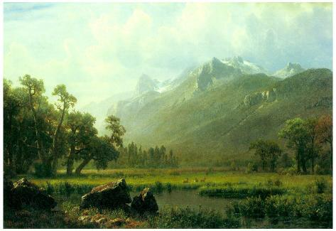 Albert Bierstadt The Sierra Near Lake Tahoe California Art Print Poster Poster