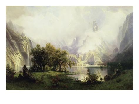 View of Rocky Mountains Giclee Print