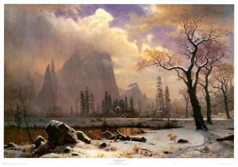 Yosemite Winter Scene Art Print