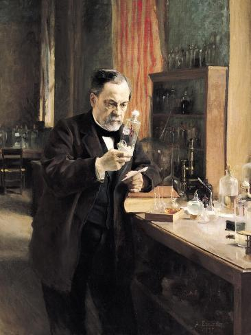Louis Pasteur (1822-95) in His Laboratory, 1885 Giclee Print