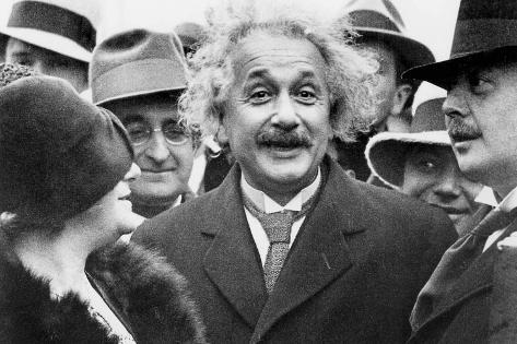 Albert Einstein (1879-1955) Physician Author of the Relative Theory and His 2nd Wife Elsa Lowenthal Photo