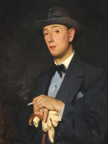 Portrait of 'Jimmy' James (Mr. Ernest William James), 1916 (oil on canvas) Giclee Print