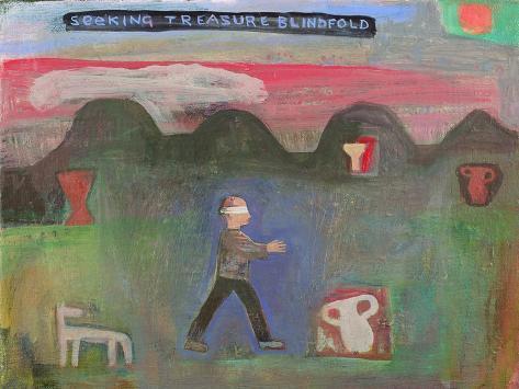 Seeking Treasure Blindfold, 1999 Giclee Print