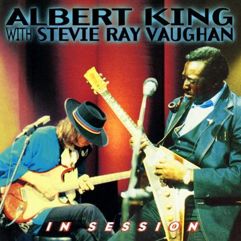 Albert King com Stevie Ray Vaughan, em apresentação Impressão artística