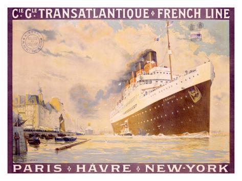 Transatlantique, French Line Giclee Print