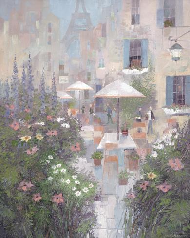 Jardin Rivoli Stretched Canvas Print