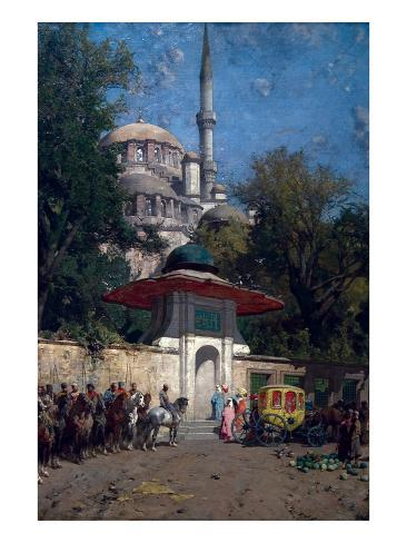 The Mosque of Sultan Achmet, Constantinople Art Print
