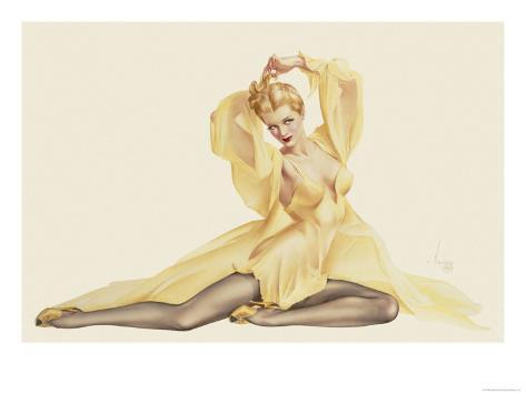 Varga Girl, April 1942 Art Print