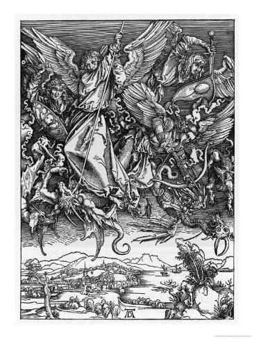 And There was War in Heaven Giclee Print