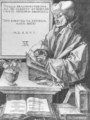 Desiderius Erasmus (1466-1536) of Rotterdam, 1526 Giclee Print