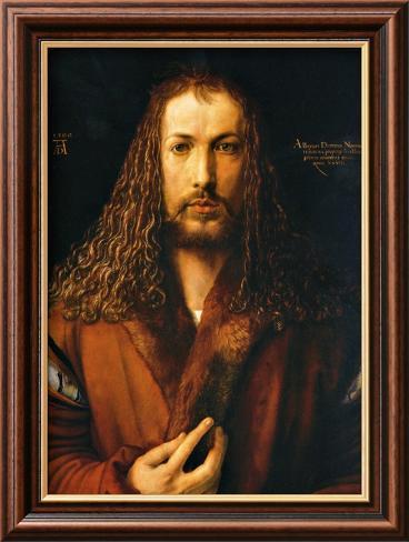 Self Portrait Lámina giclée enmarcada