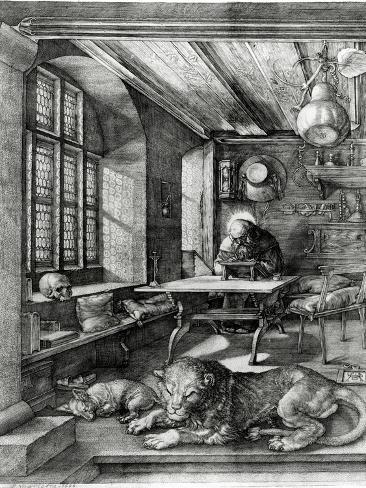 St. Jerome in His Study, 1514 (Engraving) Giclee Print