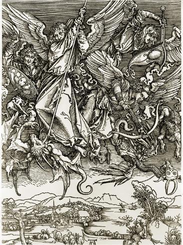 St. Michael Fighting the Dragon Giclee Print