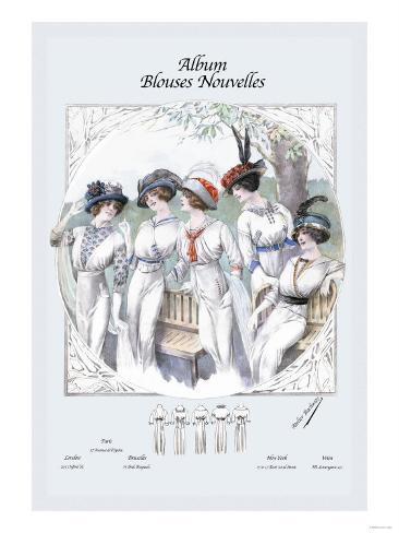 Album Blouses Nouvelles: Five Ladies in White Art Print