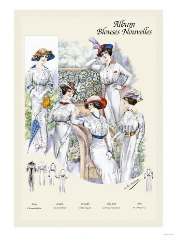 Album Blouses Nouvelles: Five Ladies of Leisure Art Print